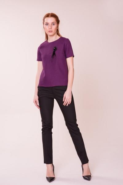 GIZIA CASUAL - Mor Bluz-Siyah Pantolon Takım