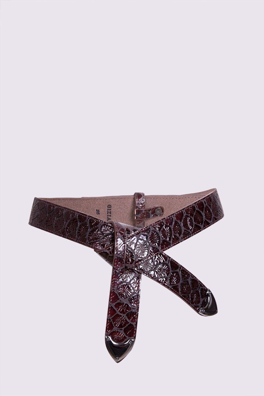 Trok Detailed Leather Belt