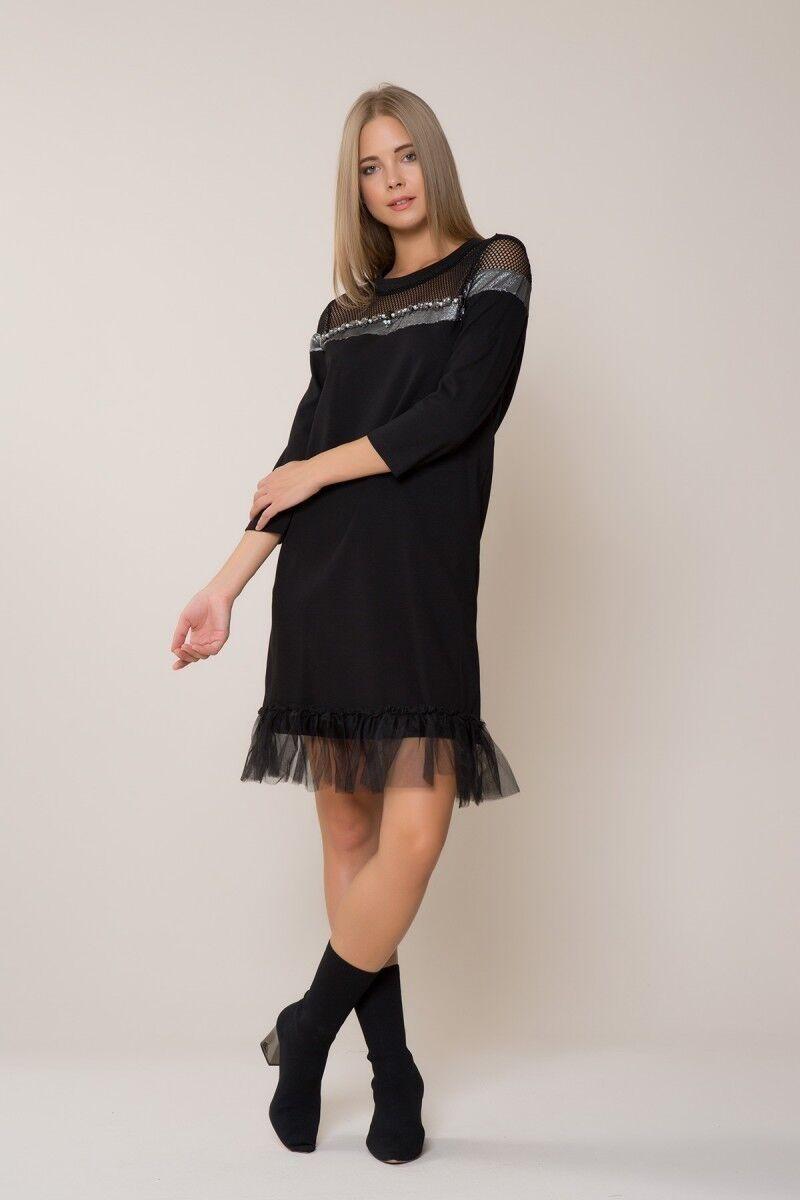 Tül Detaylı Spor Mini Elbise