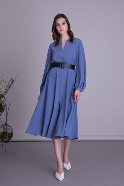GIZIA CASUAL - Uzun Kollu Kemer Detaylı Midi Elbise