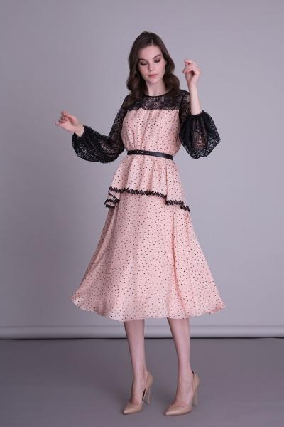 GIZIA CASUAL - Uzun Kollu Kloş Elbise