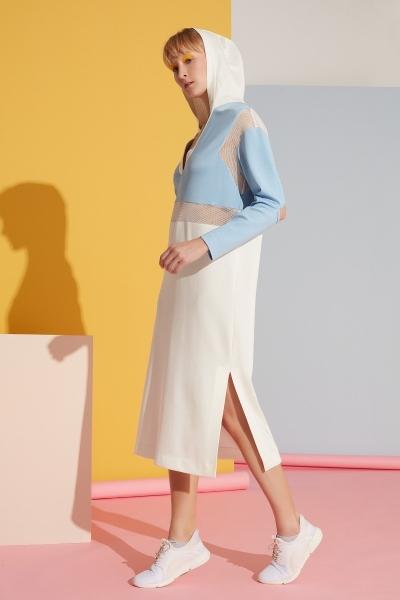 GIZIA SPORT - V Yaka File Detaylı Spor Elbise