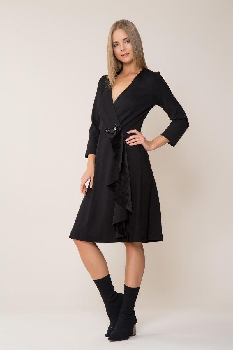 GIZIA - V Yaka Siyah Elbise