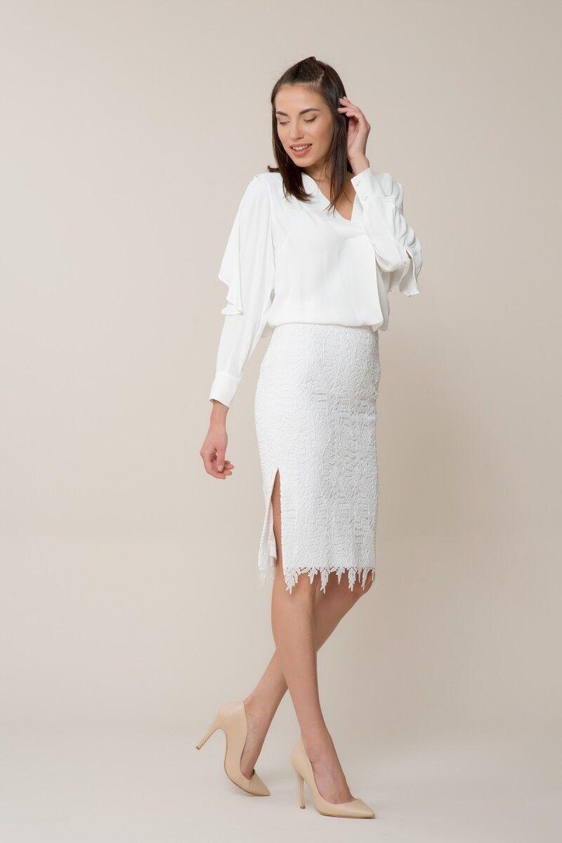 White Guipure Skirt