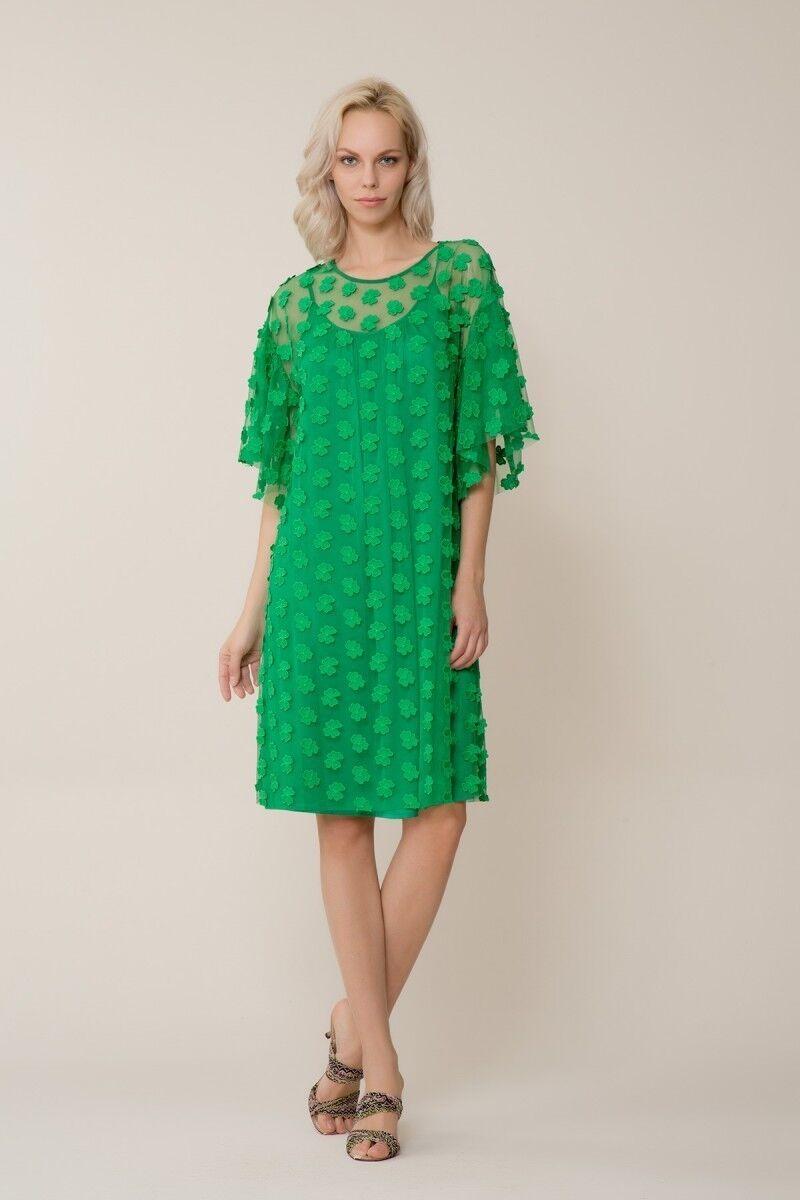 GIZIA CASUAL - Yeşil Çiçek Detaylı Tül Elbise