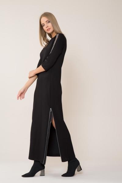 GIZIA - Yırtmaçlı Siyah Spor Elbise