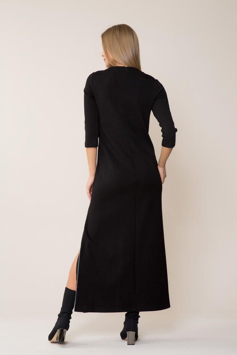 Yırtmaçlı Siyah Spor Elbise