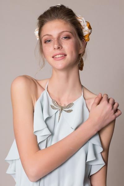GIZIA CASUAL - Yusufcuk Broşlu Pileli Uzun Elbise